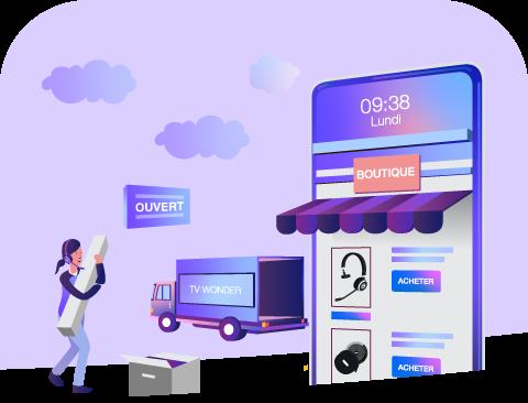 Boutique en ligne d'achats d'équipements et de solutions digitales connectés