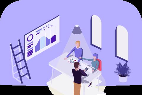 Solutions et Équipements digitaux connectés pour les bureaux et salles de réunions d'entreprises
